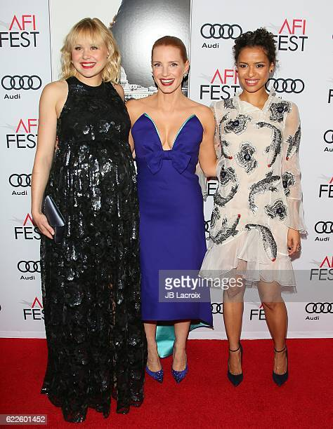 Alison Pill Jessica Chastain and Gugu MbathaRaw attend the premiere of EuropaCorp USA's 'Miss Sloane' at AFI Fest 2016 presented by Audi at TCL...
