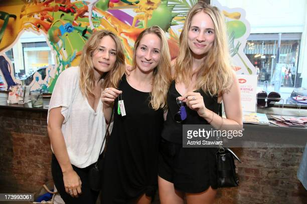 173540bb1dd4e Alison Reihart Julie Reihart and Lindsay Reihart pose for photos during the Havaianas  Marie Claire Summer