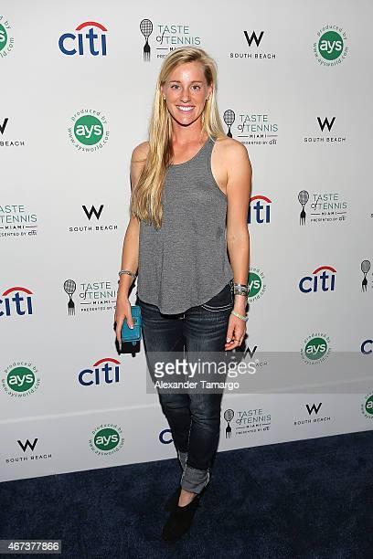 Alison Riske attends Taste Of Tennis Miami Presented By Citi at W South Beach on March 23 2015 in Miami Beach Florida