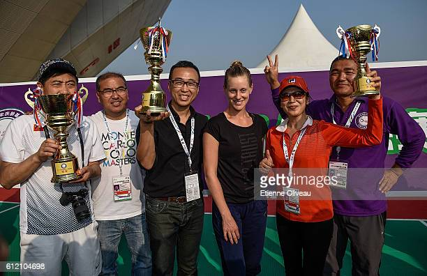 Alison Riske of United States poses for a photograph during Celebrity Award event on day three of the 2016 China Open at the China National Tennis...