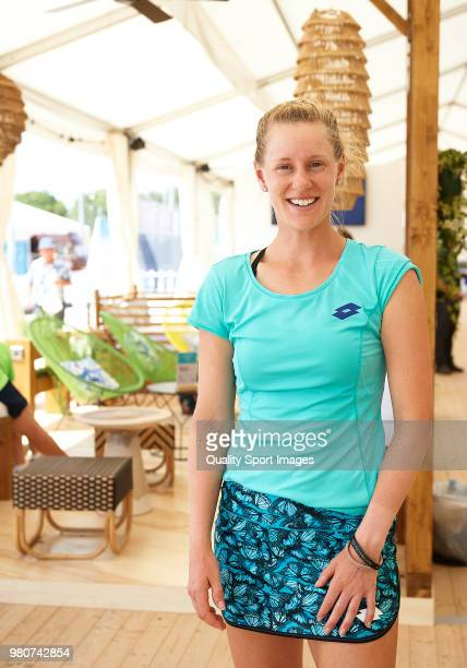 Alison Riske of USA poses during day fourth of the Mallorca Open at Country Club Santa Ponsa on June 21 2018 in Mallorca Spain