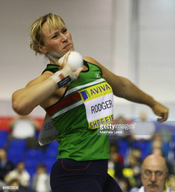 Alison Rodger of Great Britain in action during the Womens Shot Putt Final during the final day of the AVIVA World Trials and UK Championships at the...
