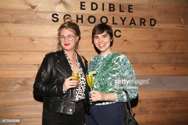 Alison Roman and Maisie Wilhelm attend Edible Schoolyard NYC 2017 Spring Benefit at Metropolitan West on April 24 2017 in New York City