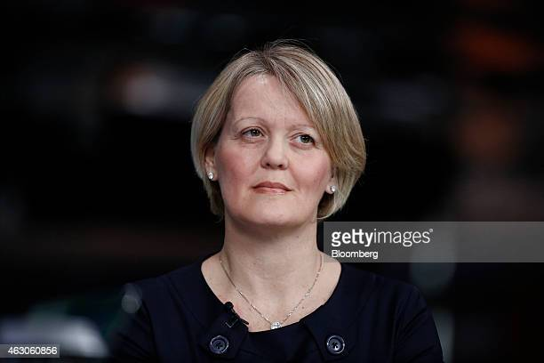 Alison Rose chief executive officer of commercial and private banking at Royal Bank of Scotland Group Plc pauses during a Bloomberg Television...