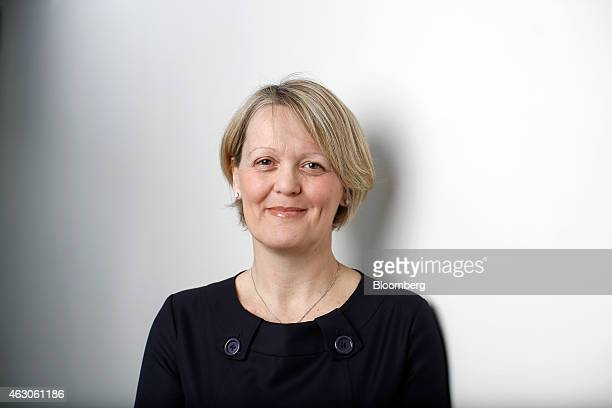 Alison Rose chief executive officer of commercial and private banking at Royal Bank of Scotland Group Plc poses for a photograph following a...
