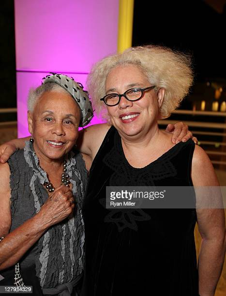 Alison Saar and artist Betye Saar pose during the Pacific Standard Time: Art in LA 1945-1980 opening event held at the Getty Center on October 2,...