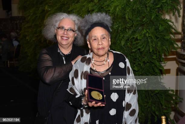 Alison Saar and Betye Saar attend Skowhegan Awards Dinner 2018 at The Plaza Hotel on April 24 2018 in New York City Alison SaarBetye Saar
