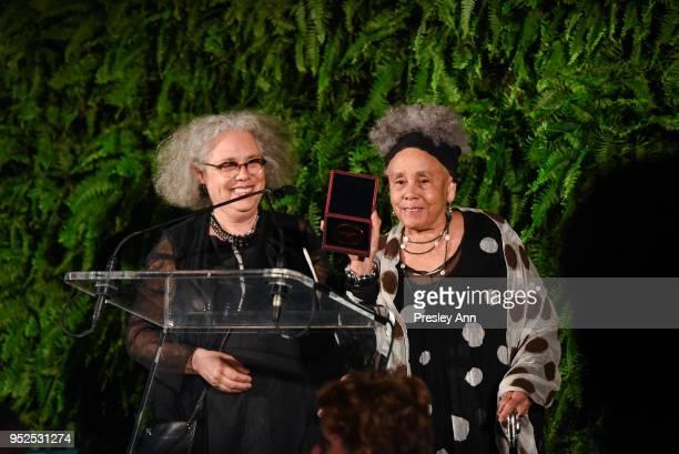Alison Saar and Betye Saar speak at Skowhegan Awards Dinner 2018 at The Plaza Hotel on April 24 2018 in New York City Alison SaarBetye Saar