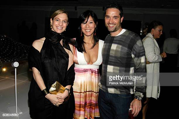 Alison Sachs Patti Kim and Morgan Wandell attend SWAROVSKI and HARPER'S BAZAAR host a party to celebrate the new Crystalized Cover of Harper's Bazaar...