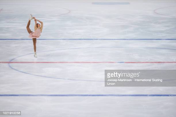 Alison Schumacher of Canada competes in the Junior Ladies short program during the ISU Junior Grand Prix of Figure Skating at Ondrej Nepela Arena on...