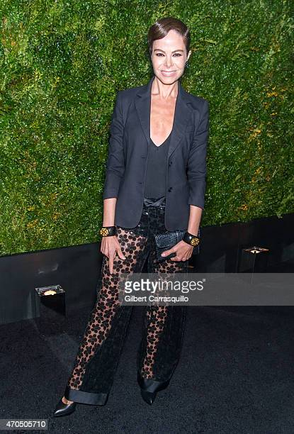Alison Serafin attends the 2015 Tribeca Film Festival Chanel artists dinner at Balthazar on April 20 2015 in New York City