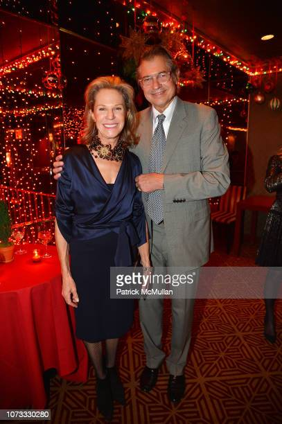 Alison Spear and Alex Reese attend George Farias Anne Jay McInerney Host A Holiday Party at The Doubles Club on December 13 2018 in New York City