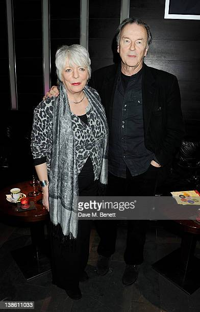 Alison Steadman and Michael Elwyn attend an after party celebrating the press night performance of 'Absent Friends' at Mint Leaf restaurant on...