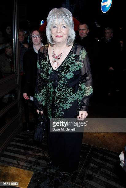 Alison Steadman and other celebrities attend the 'Whats on Stage Awards' at the prince of Wales Theatre London on February 14 2010 London United...