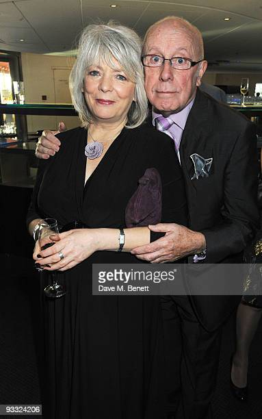 Alison Steadman and Richard Wilson attend the reception ahead of the London Evening Standard Theatre Awards at the Royal Opera House on November 23...