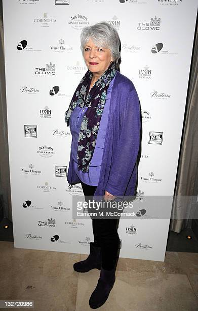 Alison Steadman arrives at the postshow party The 25th Hour following The Old Vic's 24 Hour Plays Celebrity Gala 2011 during which guests drank Jack...