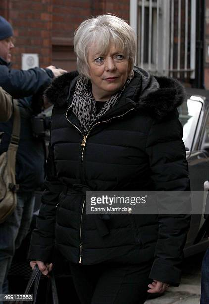 Alison Steadman attends the funeral of actor Roger LloydPack at St Paul's Church on February 13 2014 in London England