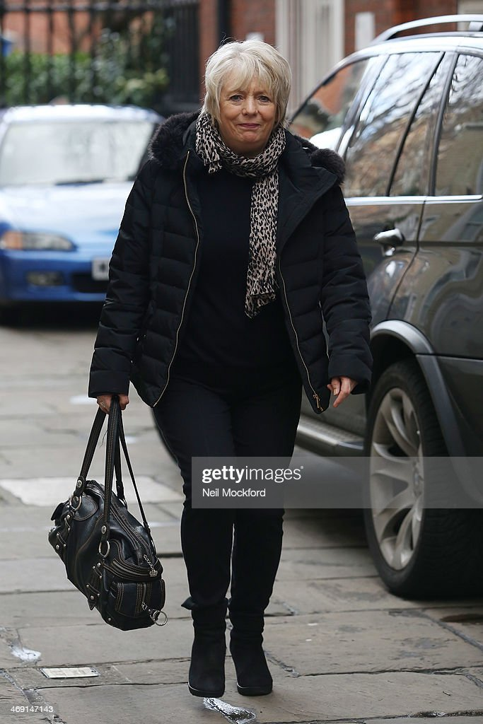Alison Steadman attends the funeral of Roger Lloyd-Pack at St Paul's Church in Covent Garden on February 13, 2014 in London, England.