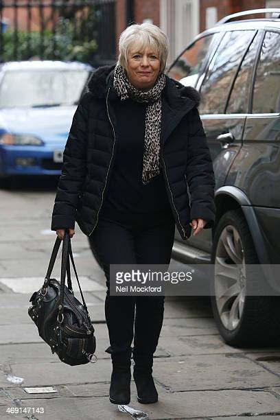 Alison Steadman attends the funeral of Roger LloydPack at St Paul's Church in Covent Garden on February 13 2014 in London England