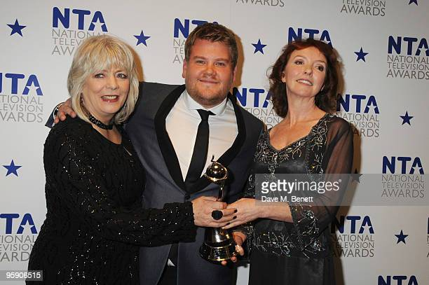 Alison Steadman James Corden and Melanie Walters attend the National Television Awards at the O2 Arena on January 20 2010 in London England