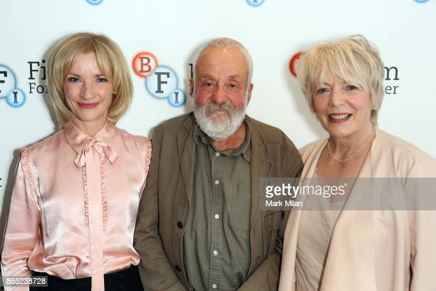Alison Steadman Jane Horrocks and Mike Leigh attend the 'Life Is Sweet' Bluray/ DVD launch and QA at BFI Southbank on September 28 2017 in London...