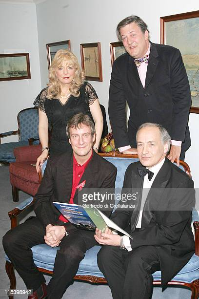 Alison Steadman Stephen Fry Stephen Tomkinson and Alastair Stewart