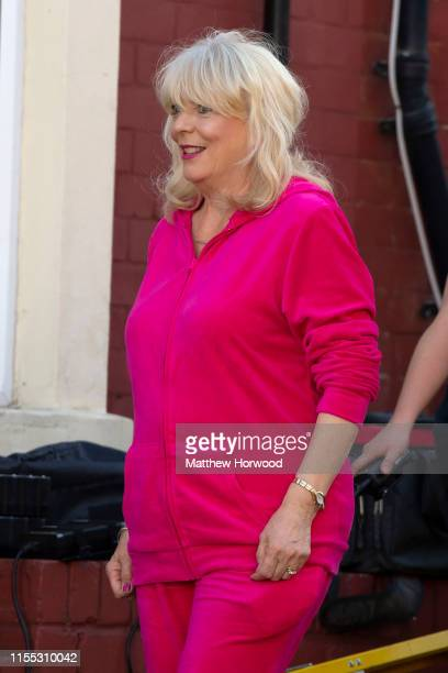 Alison Steadman who plays Pam Shipman is seen during filming for the Gavin and Stacey Christmas special on Trinity Street on July 12 2019 in Barry...