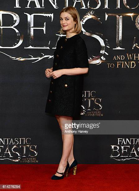 Alison Sudol attends a photocall for 'Fantastic Beast And Where To Find Them' at May Fair Hotel on October 13 2016 in London England