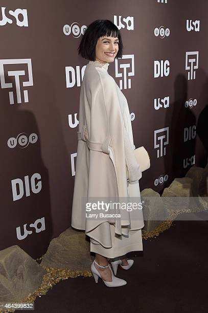 Alison Sudol attends 'Dig' Series New York Series Premiere at Capitale on February 25 2015 in New York City