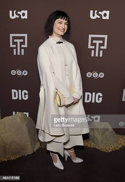 Alison Sudol attends Dig Series New York Series Premiere at Capitale on February 25 2015 in New York City