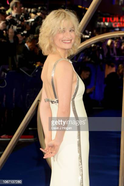 Alison Sudol attends 'Fantastic Beasts The Crimes Of Grindelwald' UK Premiere at Cineworld Leicester Square on November 13 2018 in London England