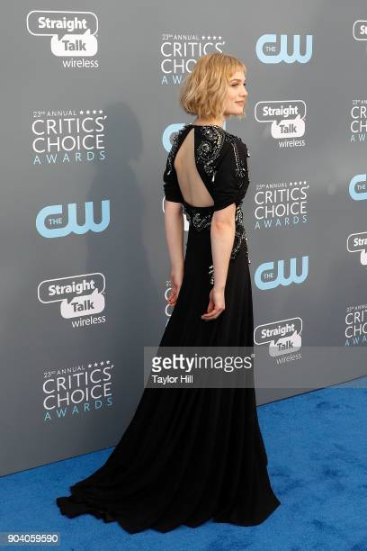 Alison Sudol attends the 23rd Annual Critics' Choice Awards at Barker Hangar on January 11 2018 in Santa Monica California