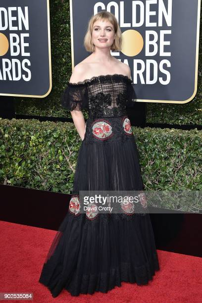 Alison Sudol attends the 75th Annual Golden Globe Awards Arrivals at The Beverly Hilton Hotel on January 7 2018 in Beverly Hills California