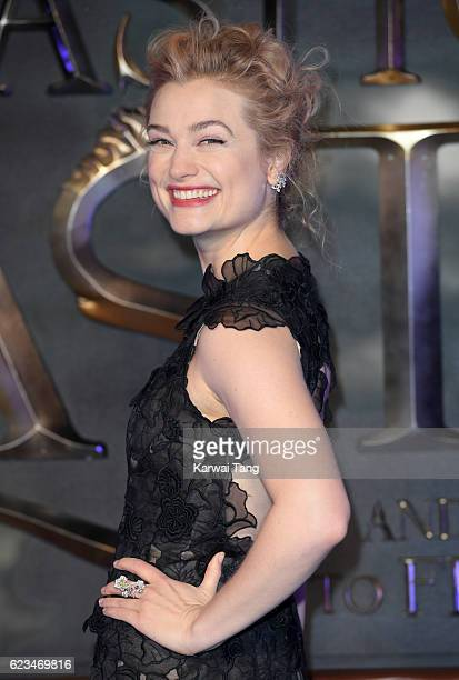 Alison Sudol attends the European premiere of 'Fantastic Beasts And Where To Find Them' at Odeon Leicester Square on November 15 2016 in London...