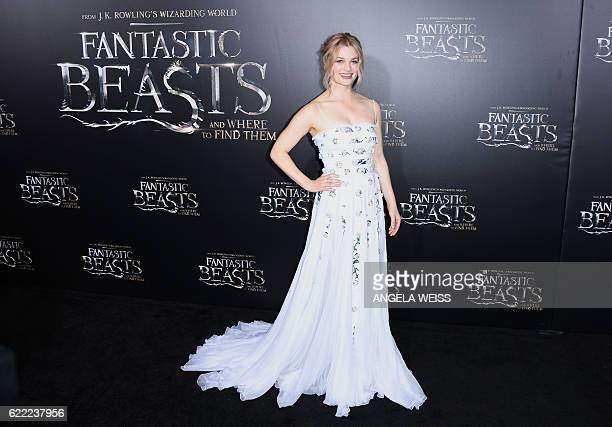 Alison Sudol attends the 'Fantastic Beasts and Where to Find Them' World Premiere at Alice Tully Hall Lincoln Center in New York on November 10 2016...