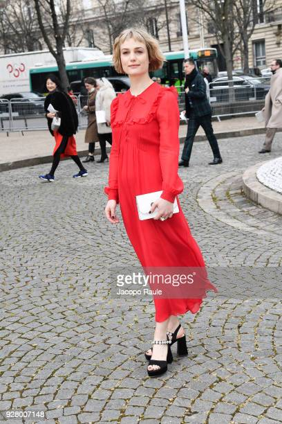 Alison Sudol attends the Miu Miu show as part of the Paris Fashion Week Womenswear Fall/Winter 2018/2019 on March 6 2018 in Paris France
