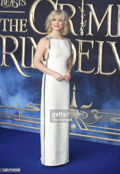Alison Sudol attends the UK Premiere of Fantastic Beasts The Crimes Of Grindelwald at Cineworld Leicester Square on November 13 2018 in London England