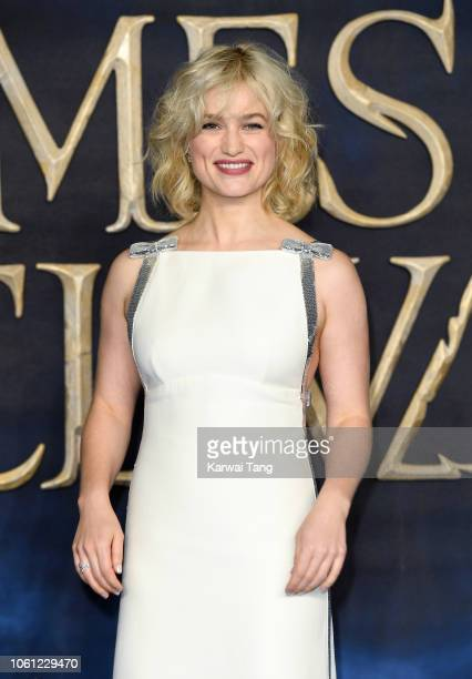 Alison Sudol attends the UK Premiere of 'Fantastic Beasts The Crimes Of Grindelwald' at Cineworld Leicester Square on November 13 2018 in London...