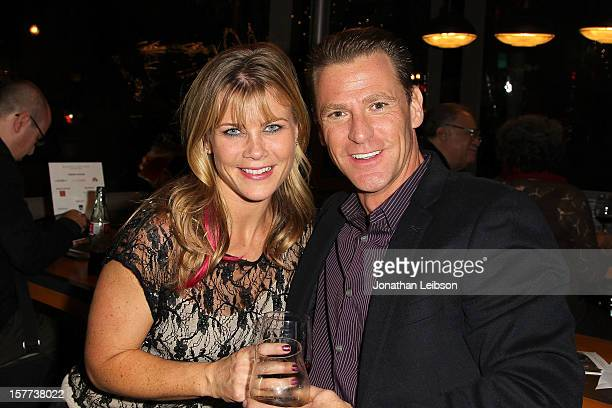 Alison Sweeney and David Sanov attend the Raising The Bar To End Parkinson's on December 5 2012 in Culver City California