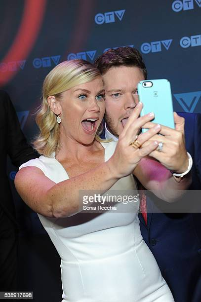 Alison Sweeney and Harry Ford attend CTV Upfronts 2016 at Sony Centre for the Performing Arts on June 8 2016 in Toronto Canada