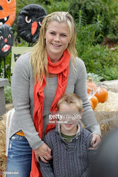 Alison Sweeney and her son Benjamin Sanov attend the Pottery Barn Kids' Halloween Carnival benefitting Operation Smile at a private residence on...