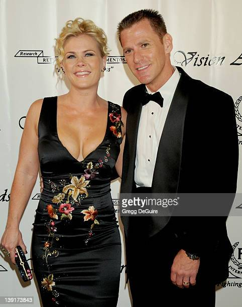 Alison Sweeney and husband Dave Sanov arrive for The 36th Annual Vision Awards at the Beverly Wilshire Hotel in Beverly Hills California on June 27...