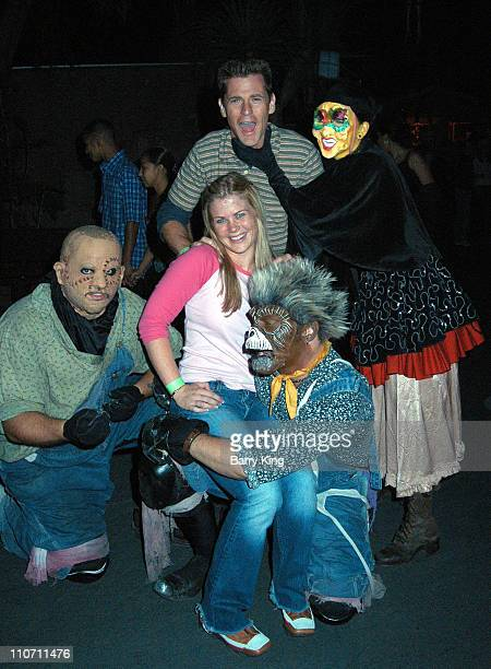 Alison Sweeney and husband Dave Sanov during Days Of Our Lives Stars Visit Knott's Berry Farms Halloween Haunt at Knott's Berry Farm in Buena Park...