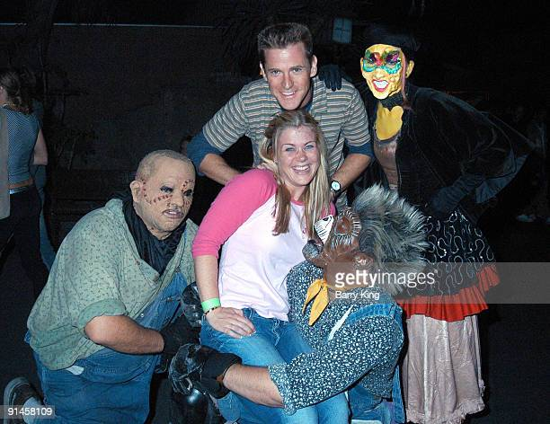 Alison Sweeney and husband Dave Sanov with Ghost Town Monsters