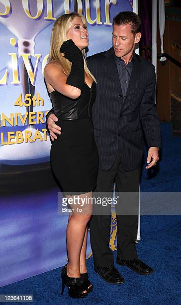 Alison Sweeney and husband David Sanov attend Days Of Our Lives 45th anniversary party at House of Blues Sunset Strip on November 6 2010 in West...