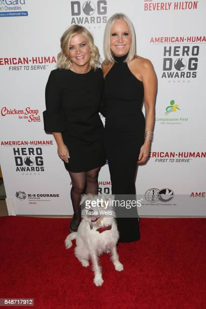 Alison Sweeney and Michelle Vicary at the 7th Annual American Humane Association Hero Dog Awards at The Beverly Hilton Hotel on September 16 2017 in...