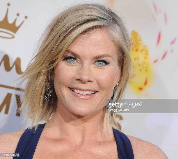 Alison Sweeney arrives at the 2017 Summer TCA Tour Hallmark Channel And Hallmark Movies And Mysteries at a private residence on July 27 2017 in...