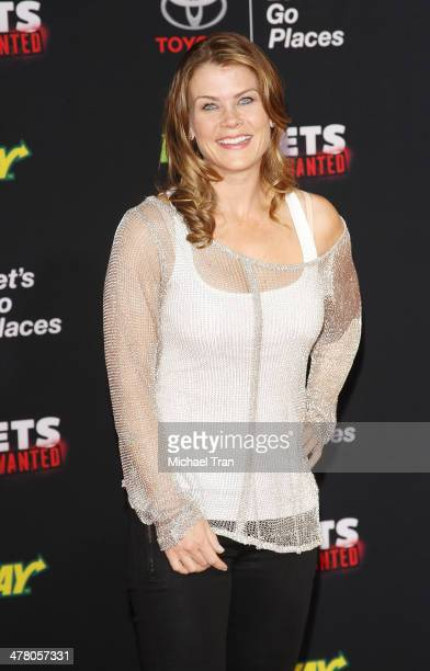 """Alison Sweeney arrives at the Los Angeles premiere of """"Muppets Most Wanted"""" held at the El Capitan Theatre on March 11, 2014 in Hollywood, California."""