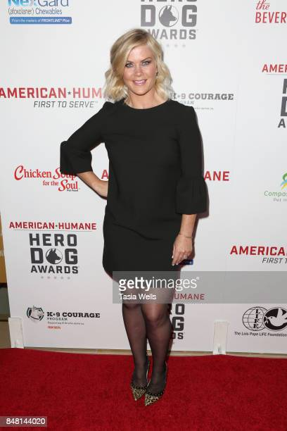 Alison Sweeney at the 7th Annual American Humane Association Hero Dog Awards at The Beverly Hilton Hotel on September 16 2017 in Beverly Hills...