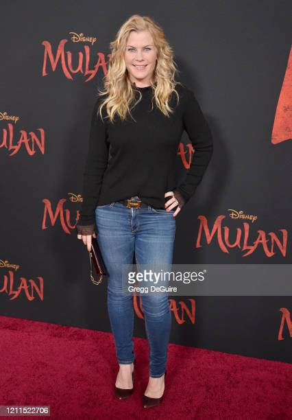 Alison Sweeney attends the Premiere Of Disney's Mulan on March 09 2020 in Hollywood California